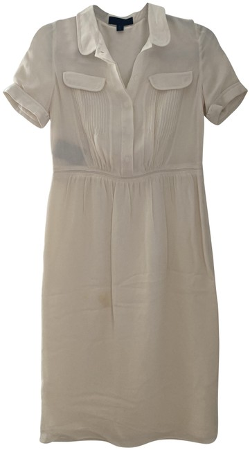 Item - Ivory Mid-length Short Casual Dress Size 4 (S)