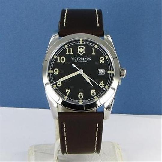 Victorinox Swiss Army 241563 Infantry Black Dial Mens Leather Strap Watch
