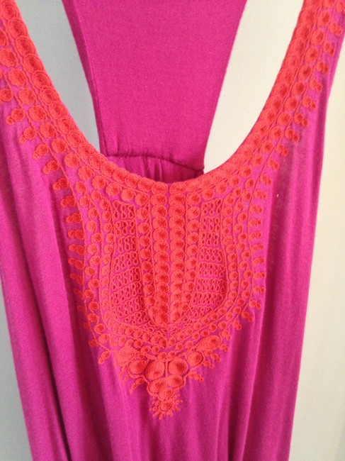 Anthropologie Embroidered Anthro Top pink