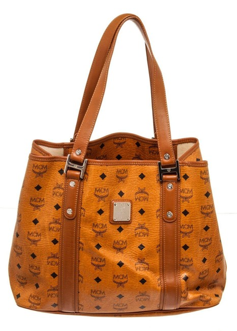 Item - Bag Canvas Shopper Brown Leather Tote