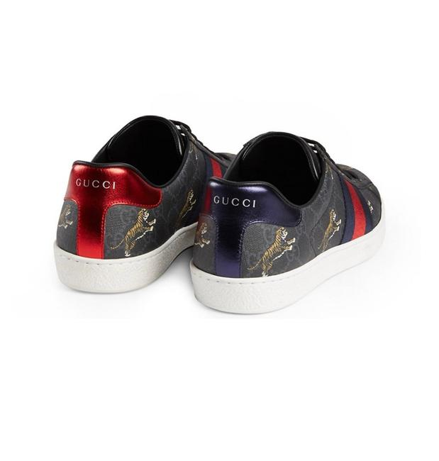 Item - Black Tiger Print with Navy and Red Backs Men's Ace Gg Supreme Sneakers Size US 6.5 Regular (M, B)