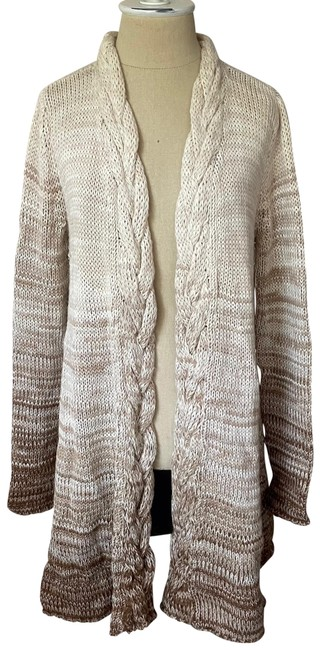 Item - Beige and Brown Ombre Baby Alpaca Cardigan Size 2 (XS)