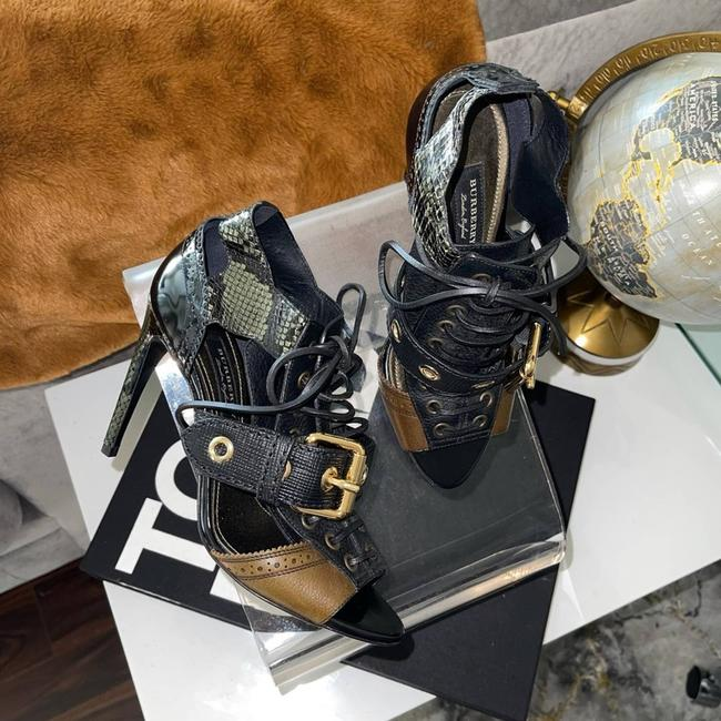Item - Green New Women's Buckle Snakeskin Cut-out Ankle Boots/Booties Size EU 36 (Approx. US 6) Regular (M, B)