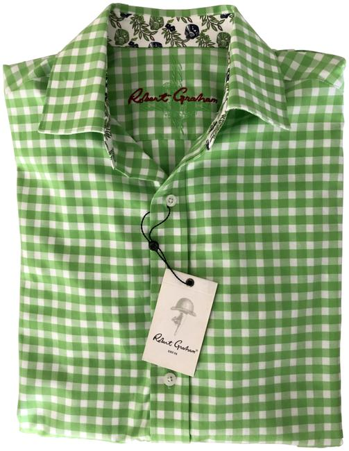 Item - Green Men's Button-down Top Size 4 (S)