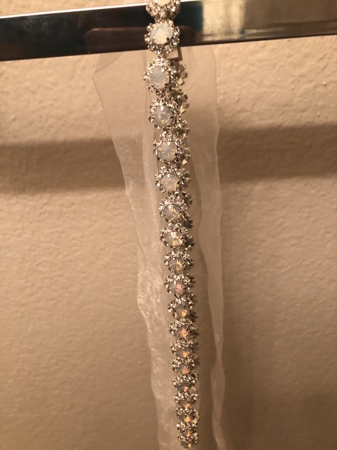 Item - Ivory/ Opal With Pave Crystal Halo Sash