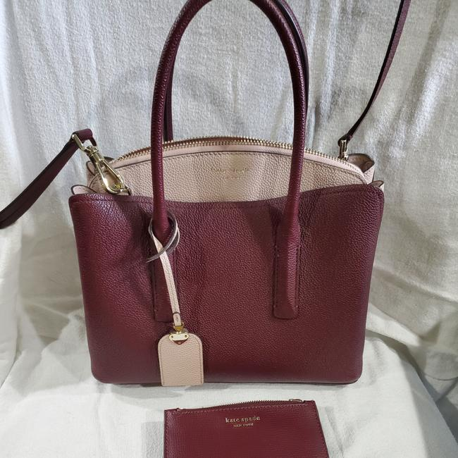 Item - Medium Margeaux with Matching Wallet Dark Purple and Pink Leather Cross Body Bag