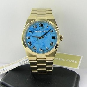 Michael Kors Michael Kors Mk5894 Channing Gold Tone Turquoise Steel Bracelet 38mm Watch