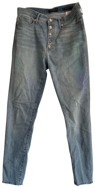 Item - Light Blue Wash High-rise Button-fly Skinny Jeans Size 6 (S, 28)