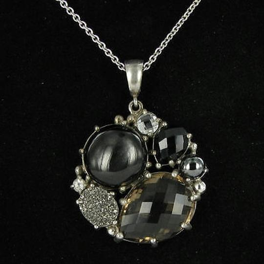 Anzie Anzie Bouquet Necklace Onyx Quartz Drusy Quartz White Topaz 925