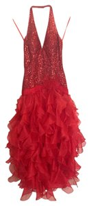Jovani Seqin Halter Tulle Dress
