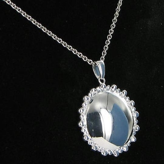 Anzie Anzie Dew Drop Round Necklace 20mm By 17 Sterling Silver