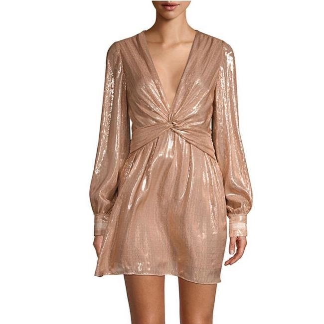 Item - Blush New Pink Plunging Shimmer Mini Short Night Out Dress Size 4 (S)