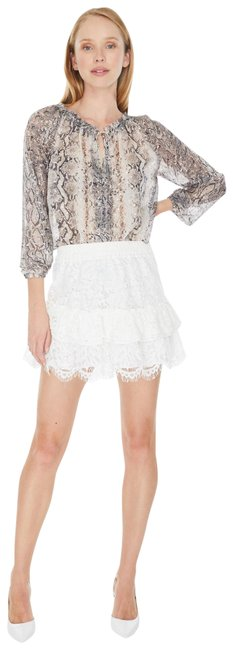 Item - White New Revolve Lace Tiered Ruffle Skirt Size 2 (XS, 26)