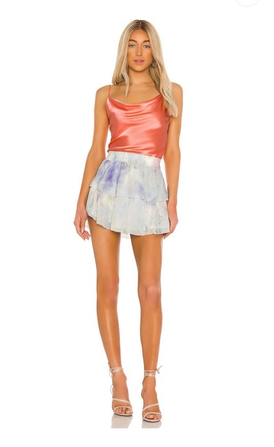 Item - Multicolor New Revolve Silk Tiered Ruffle Skirt Size 2 (XS, 26)