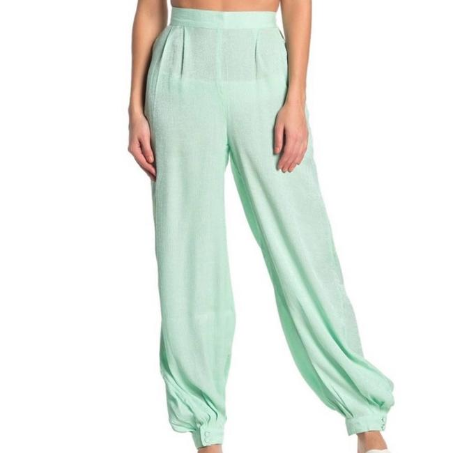 Item - Mint New Green High Waist Shimmer Pants Cover-up/Sarong Size 2 (XS)