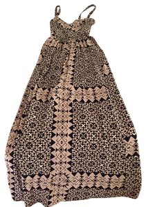 Black/tan Pattern Maxi Dress by Plenty by Tracy Reese