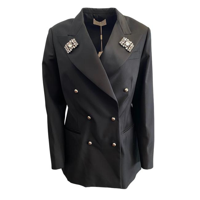 Item - Black Double Breasted with Rhinestones Blazer Size 6 (S)