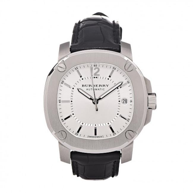Item - Black / Silver New Britain Stainless Steel Alligator Leather Watch