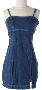 Guess short dress Blue Denim Denim Sleeveless Shift Sheath on Tradesy