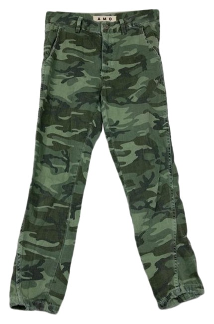 Item - Camo Slouch High Trouser Capri/Cropped Jeans Size 24 (0, XS)