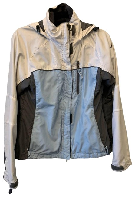 Item - Blue Small Light Blue/Gray/Cream Colorblock Hooded Jacket Size 4 (S)