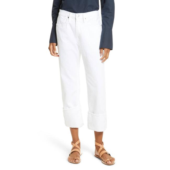 Item - White Light Wash Le Oversized Cuffed In Blanc Relaxed Fit Jeans Size 31 (6, M)