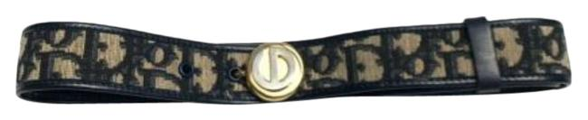 Item - Blue/Black Trotter Print Blue/Black Print/Leather with Two-tone Cd Buckle Belt