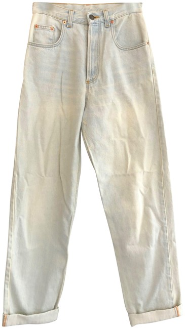 Item - White Wash Denim Light Amour Lot 1980 Relaxed Fit Jeans Size 24 (0, XS)