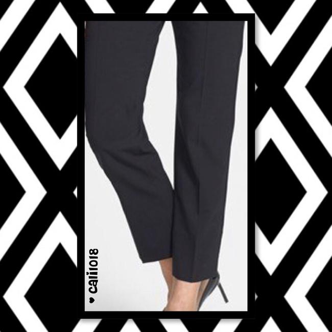 Theory Wear To Work Flat Front Wool Designer New Trouser Pants Black