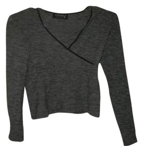 Cosabella Longsleeve Italian Wool Top Gray and Black