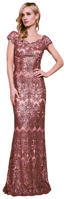 Item - Pink Hetz Embroidered Sequin Gown Long Formal Dress Size 10 (M)