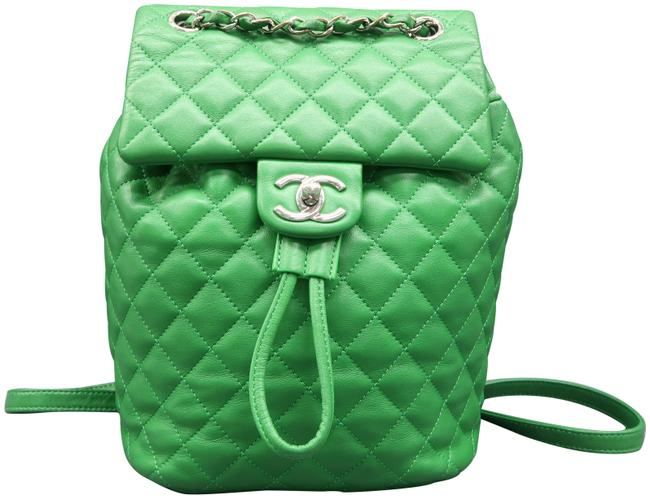 Item - Spirit Small Green Lambskin Leather Backpack