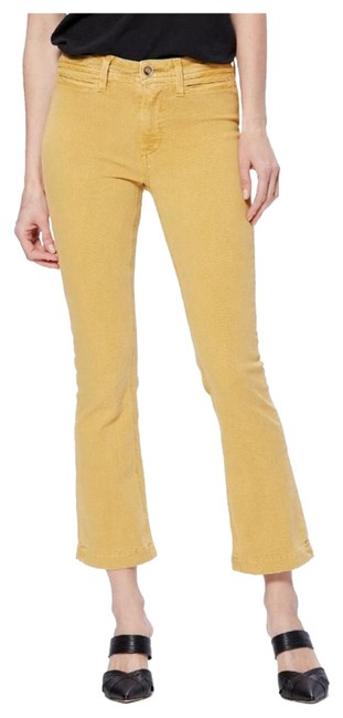 Item - Yellow Colette Crop Flare Capri/Cropped Jeans Size 2 (XS, 26)