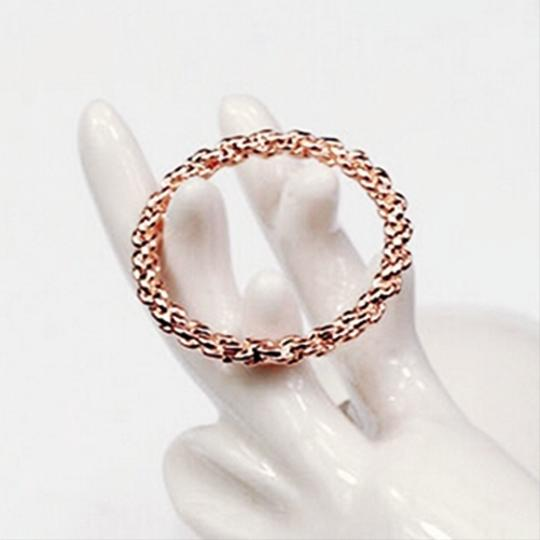 Other Twisted Fate Ring 18k Rose Gold Plated