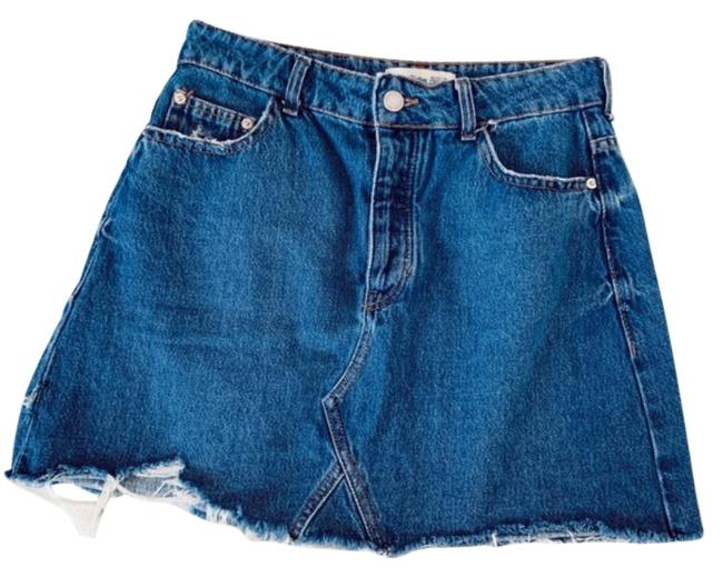 Item - Blue Button Fly Jean Skirt Size 8 (M, 29, 30)