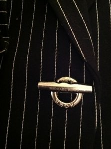 Michael Kors Black and White Pinstripe Blazer