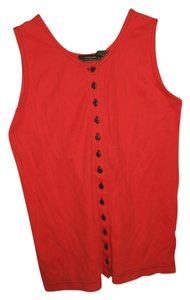 Jeanne Pierre Cotton Valentines Day Buttons Button Down Shirt Red