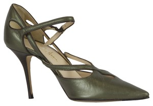 Cole Haan Green/Metallic Pumps