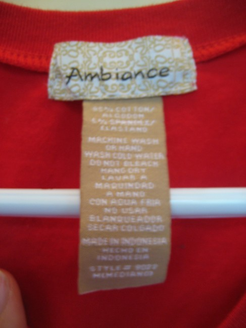 Ambiance Cotton T Shirt Red