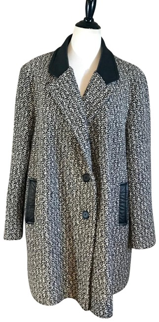 Item - Multicolor Wool and Leather Coat Size 26 (Plus 3x)