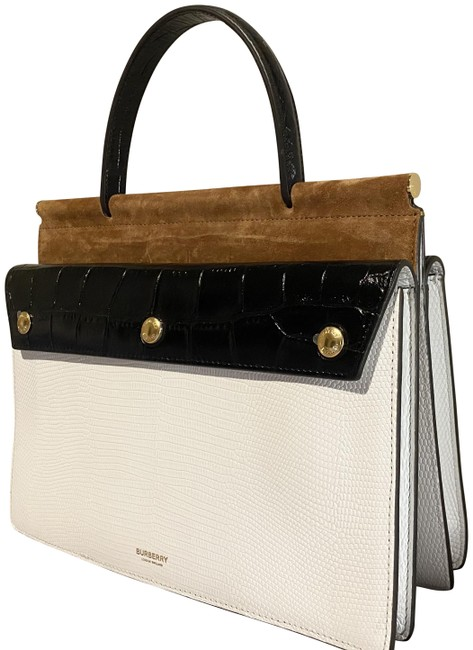 Item - Small Title White and Maple Deerskin Leather Shoulder Bag