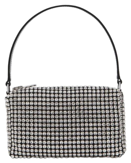 Item - Like New Heiress Pouch In Rhinestone Mesh Silver Leather Clutch