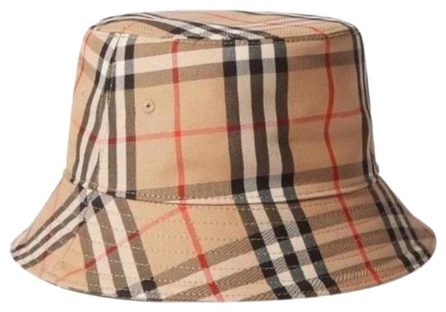 Item - Beige Bucket Checked Cotton-blend Twill Size Small Hat