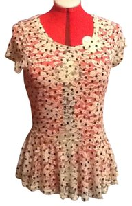 Spoiled Top White with Black Polka Dots
