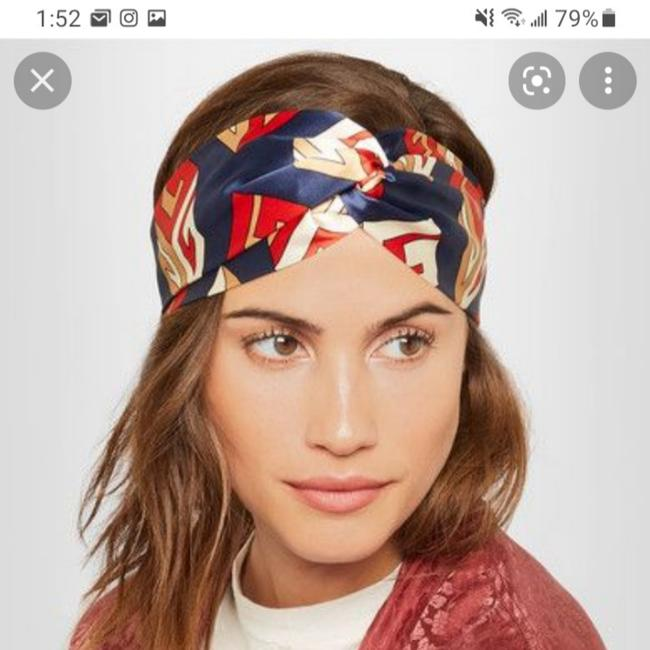Item - Blue Red White Beige Silk Headband Gg Cube New with Tags Hair Accessory