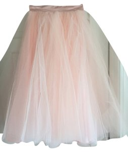 Space 46 Tulle Tea Length Party Skirt Blush