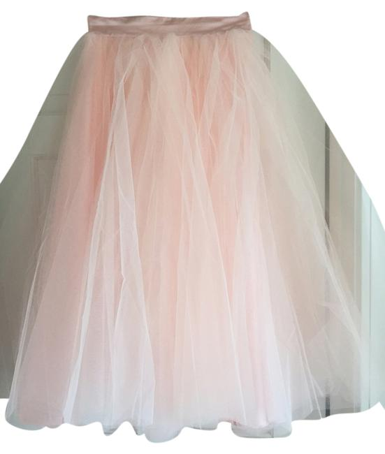 Space 46 Tulle Tea Length Party Engagement Bachelorette Fun Girly Skirt Blush