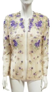 Fe Zandi Couture Open Front Beige, Lilac Jacket