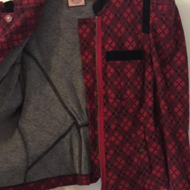 Juicy Couture Cotton Checker Causal Cute Red And Black Jacket