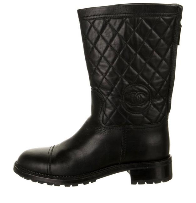 Item - Black Quilted Boots/Booties Size EU 38.5 (Approx. US 8.5) Regular (M, B)
